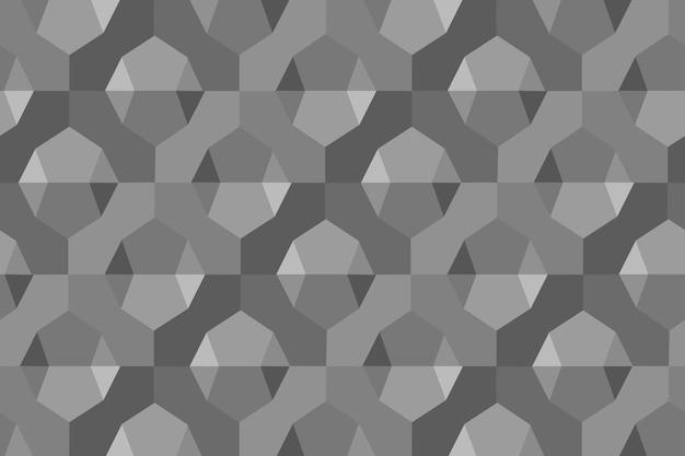 Fond gris de vecteur de motif géométrique 3d simple