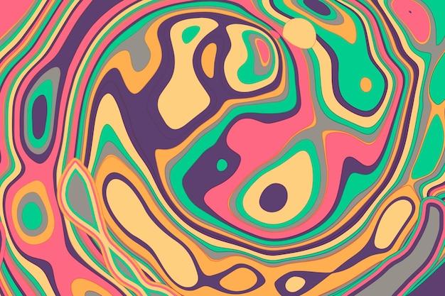 Fond groovy psychédélique dessiné à la main