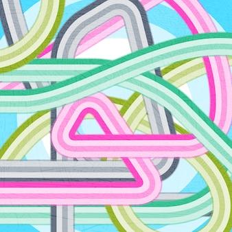 Fond de grunge disco moderne de vecteur avec des lignes courbes