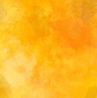 Fond grunge jaune avec des coups de pinceau et aquarelle