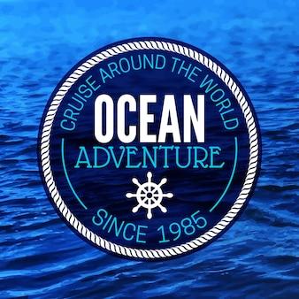 Fond grunge de voyage. conception nautique de la mer. illustration vectorielle de croquis texturé dessinés à la main. conception typographique