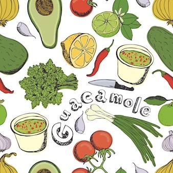 Fond de guacamole