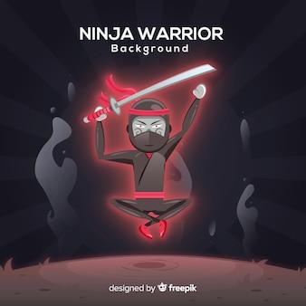 Fond de guerrier ninja créatif
