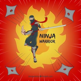 Fond de guerrier ninja