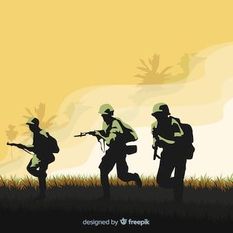 Fond guerrier