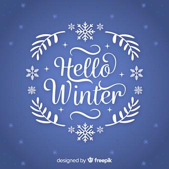 Fond de guirlande texte hiver