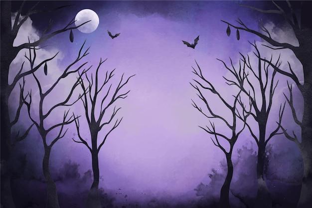Fond d'halloween aquarelle