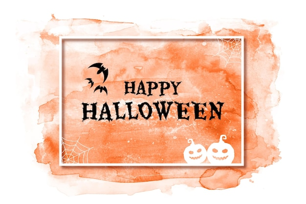 Fond D'halloween Aquarelle Vecteur gratuit