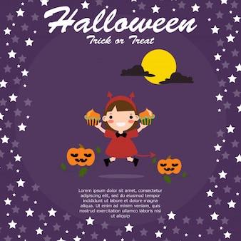 Fond d'halloween avec de beaux costumes