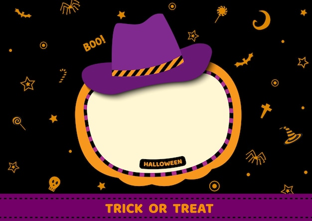 Fond d'halloween avec chapeau et fond