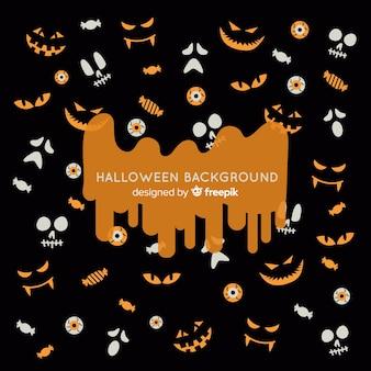 Fond de halloween classique avec un design plat