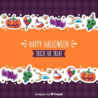 Fond de halloween coloré en design plat