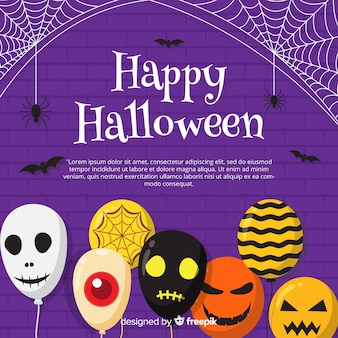 Fond de halloween créatif avec des ballons