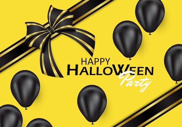 Fond d'halloween décoré de ballons noirs