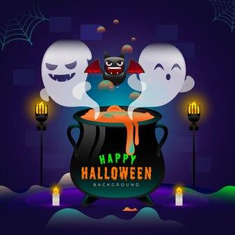Fond d'halloween en dégradé