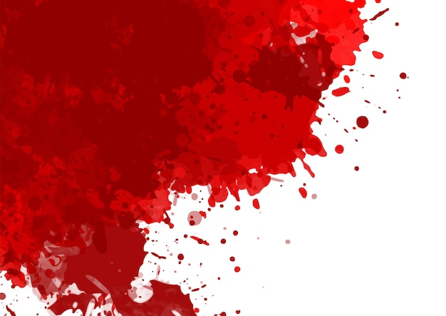 Fond d'halloween avec un design d'éclaboussures de sang rouge