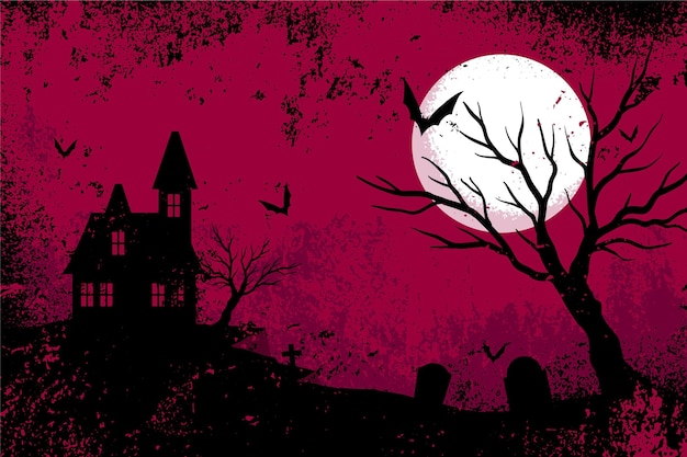 Fond d'halloween design grunge