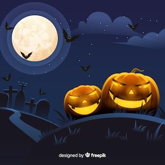 Fond de halloween effrayant avec un design réaliste