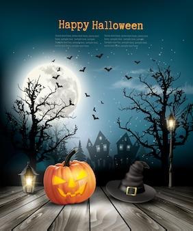 Fond d'halloween effrayant avec un vieux papier. vecteur.