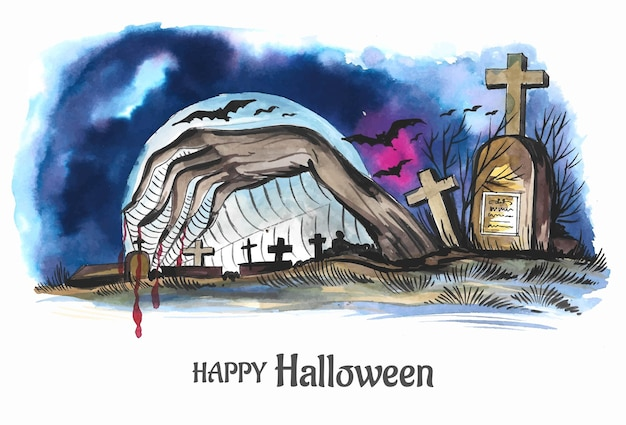 Fond d'halloween fond fantasmagorique