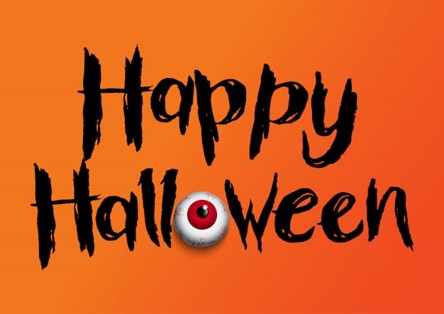 Fond d'halloween avec globe oculaire