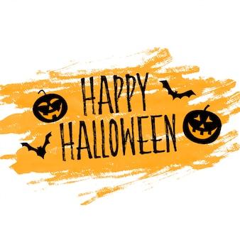 Fond d'halloween heureux avec citrouilles et chauves-souris