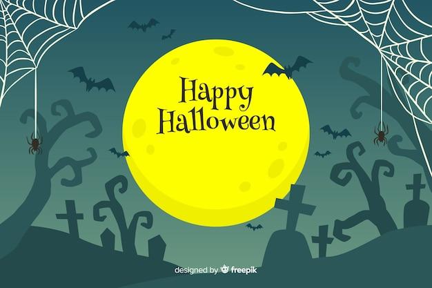 Fond d'halloween heureux dessiné à la main