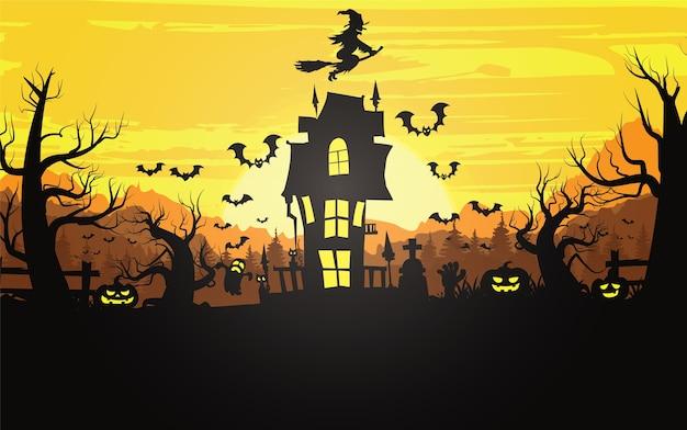 Fond d'halloween heureux, illustration d'halloween.