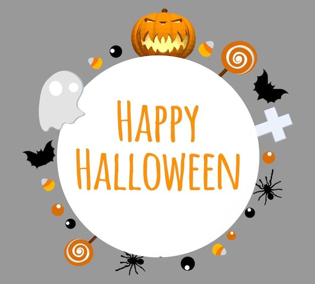 Fond d'halloween heureux. place pour votre texte. zone ronde pour le texte.