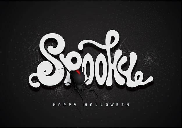 Fond de halloween heureux avec la police 3d spooky