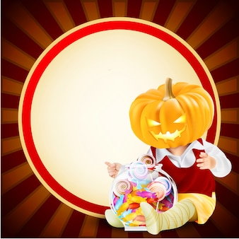 Fond d'halloween avec l'icône trick or treat