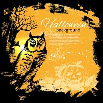 Fond d'halloween. illustration dessinée à la main