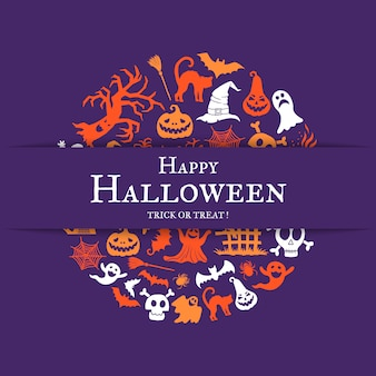 Fond d'halloween avec la place pour le texte