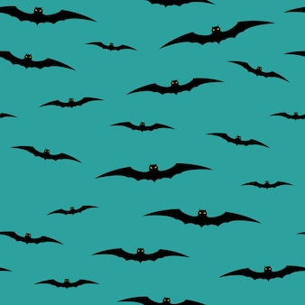 Fond d'halloween sans couture avec des chauves-souris. illustration vectorielle