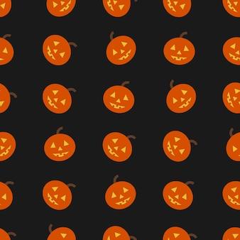 Fond d'halloween sans couture avec citrouille. illustration vectorielle