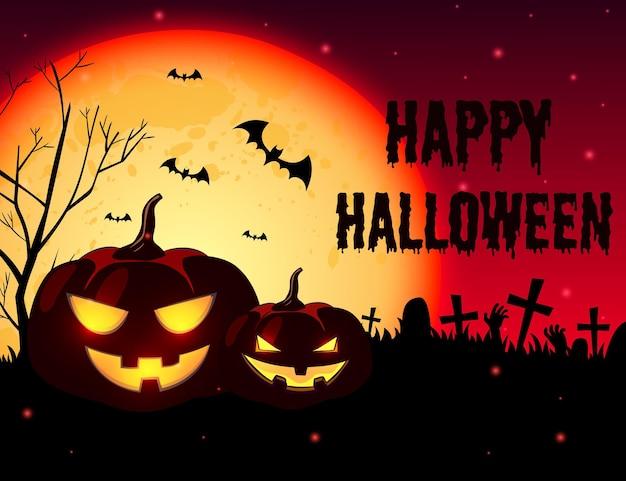 Fond d'halloween style dessiné à la main