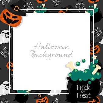 Fond d'halloween avec le texte trick or treat.