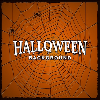 Fond d'halloween avec toile d'araignée et texture grunge.