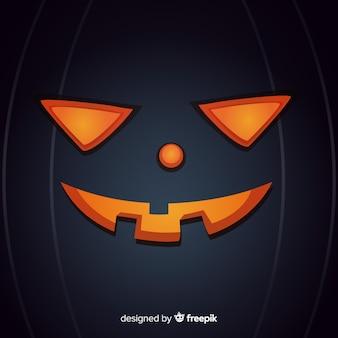 Fond d'halloween avec visage de citrouille