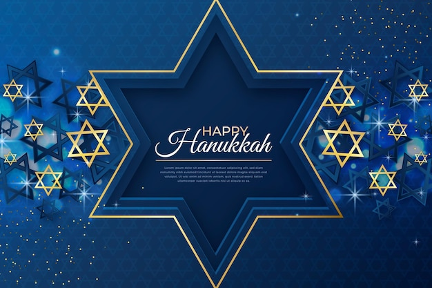 Fond de hanoucca réaliste