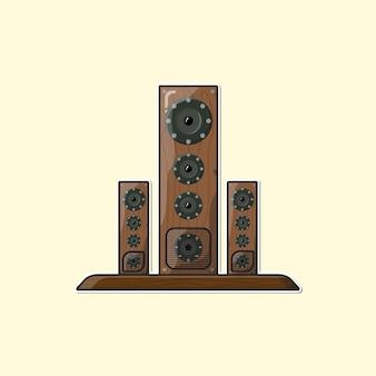 Fond de haut-parleur marron dessiné à la main illustration vectorielle