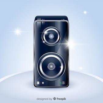 Fond de haut-parleur noir 3d réaliste