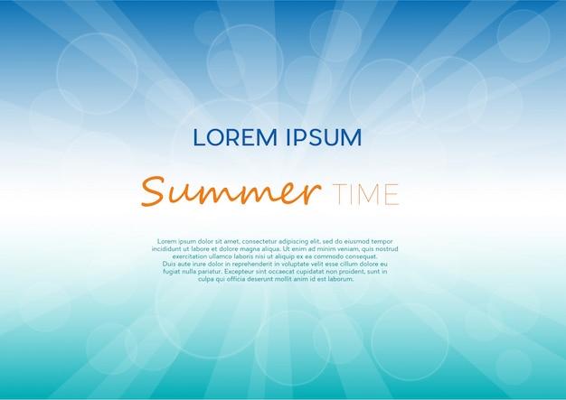 Fond de l'heure d'été avec le texte.