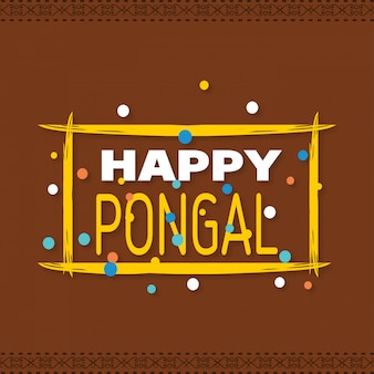 Fond heureux pongal. illustration vectorielle