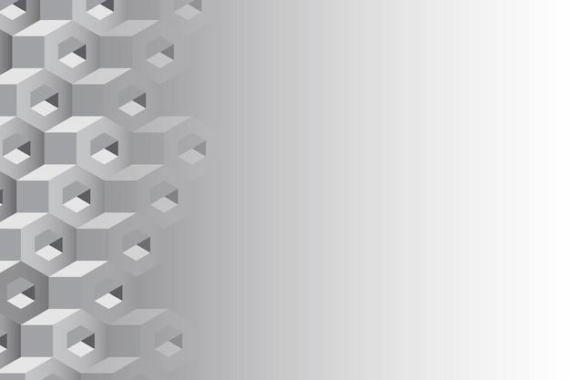 Fond hexagonal 3d gris