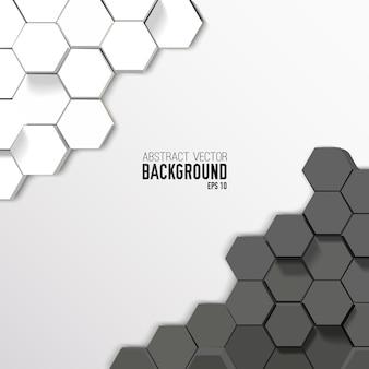 Fond hexagonal abstrait géométrique