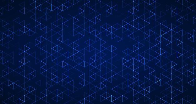 Fond hexagonal bleu technologie abstraite