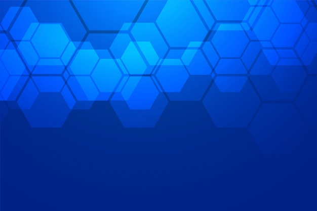 Fond hexagonal bleu