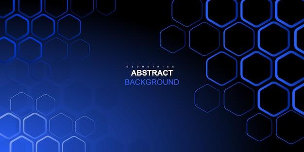 Fond hexagonal bleu