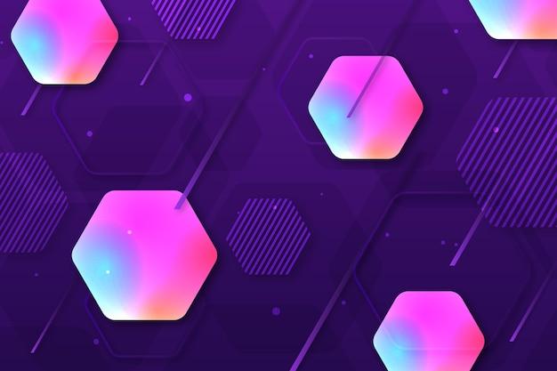 Fond hexagonal dégradé coloré